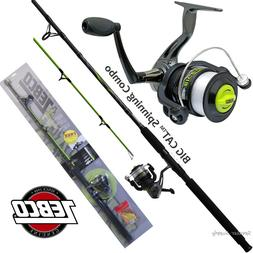 Zebco Big Cat Spinning Combo Catfish Rod & Reel Package Medi