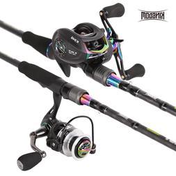 Kingdom KING II Spinning Rods Combo Casting Fishing Rod Reel