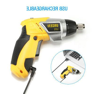 Electric Cordless Screwdriver Battery Drill Rechargeable LED US