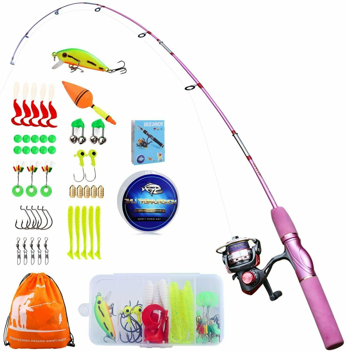 kids fishing pole with spinning reels