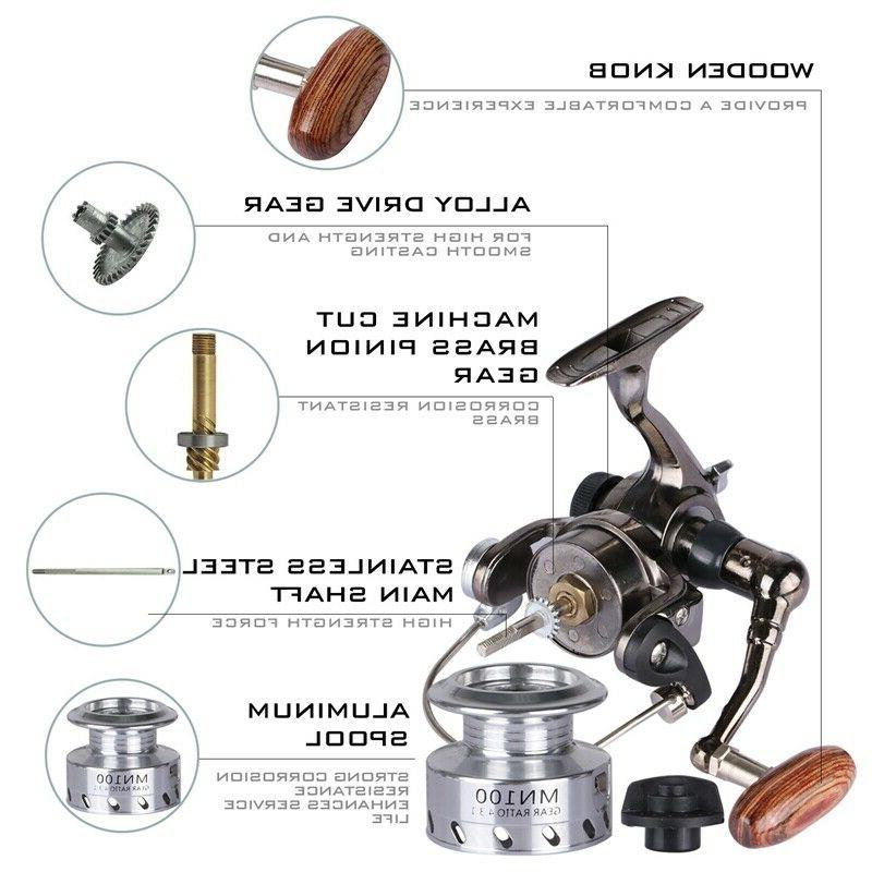Goture Fishing Reel Aluminum Metal Small Spinning Reel