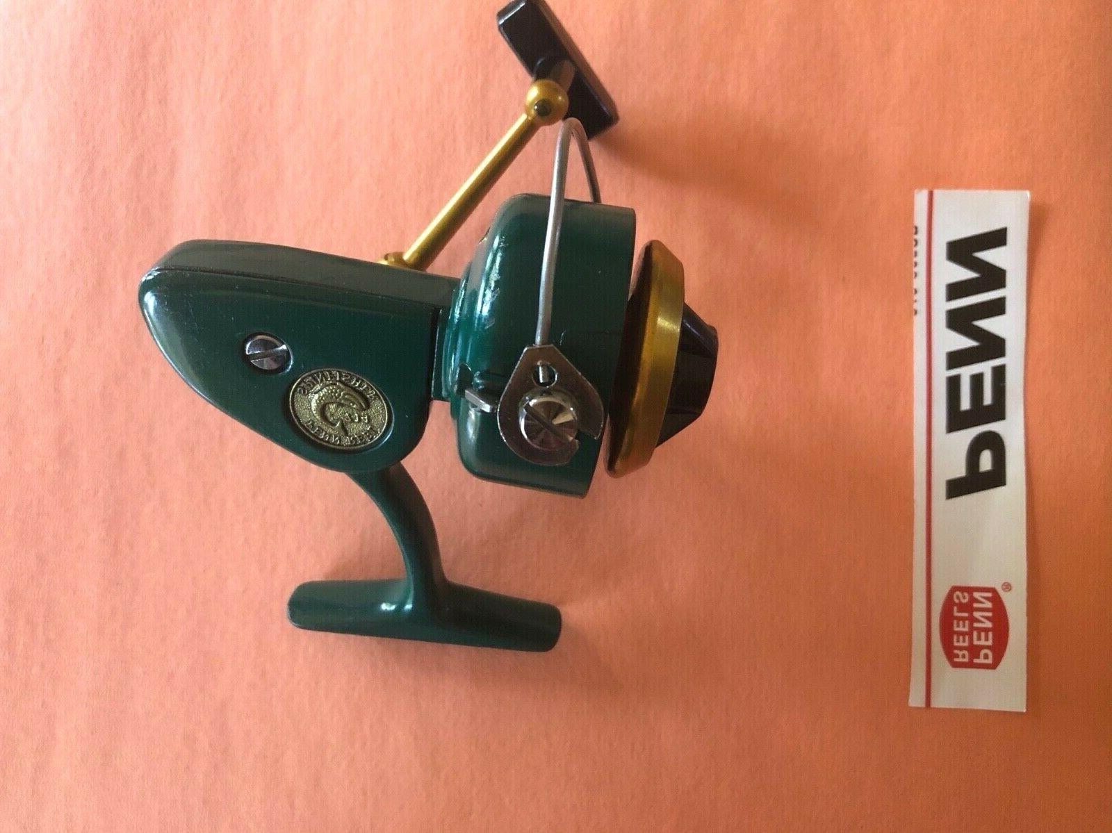 new antique green lightweight 714 spinfisher reel