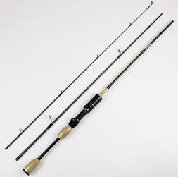 Spinning Fishing Rod Travel Portable Carbon Fiber Pole Ultra