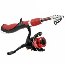 Spinning Reel Bait Fishing Rod Telescopic Casting Hand Pole