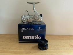 OKUMA ULTRALITE 10 SPINNING REEL w/extra spool